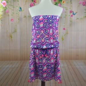 EUC Vineyard Vines strapless dress, coverup, S